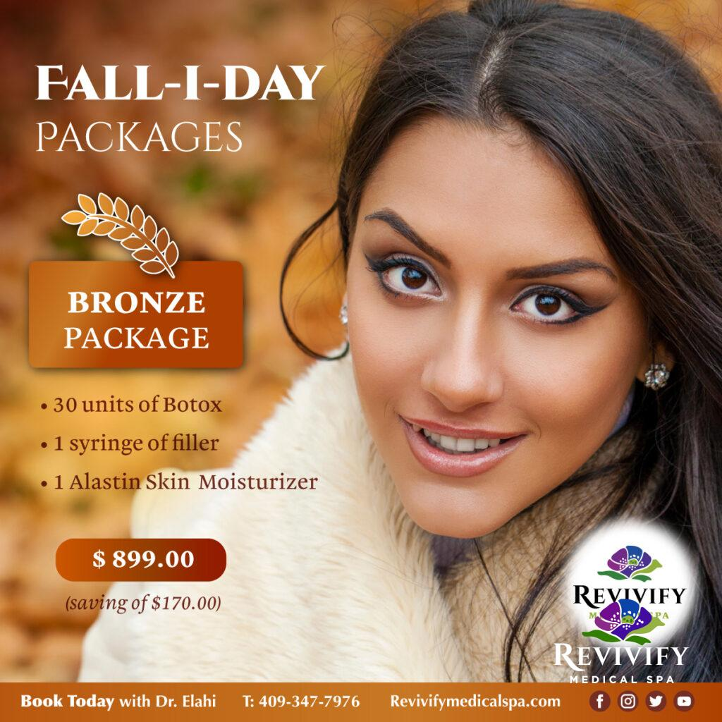 FALL-I-DAY Medical Spa November Specials Bronze