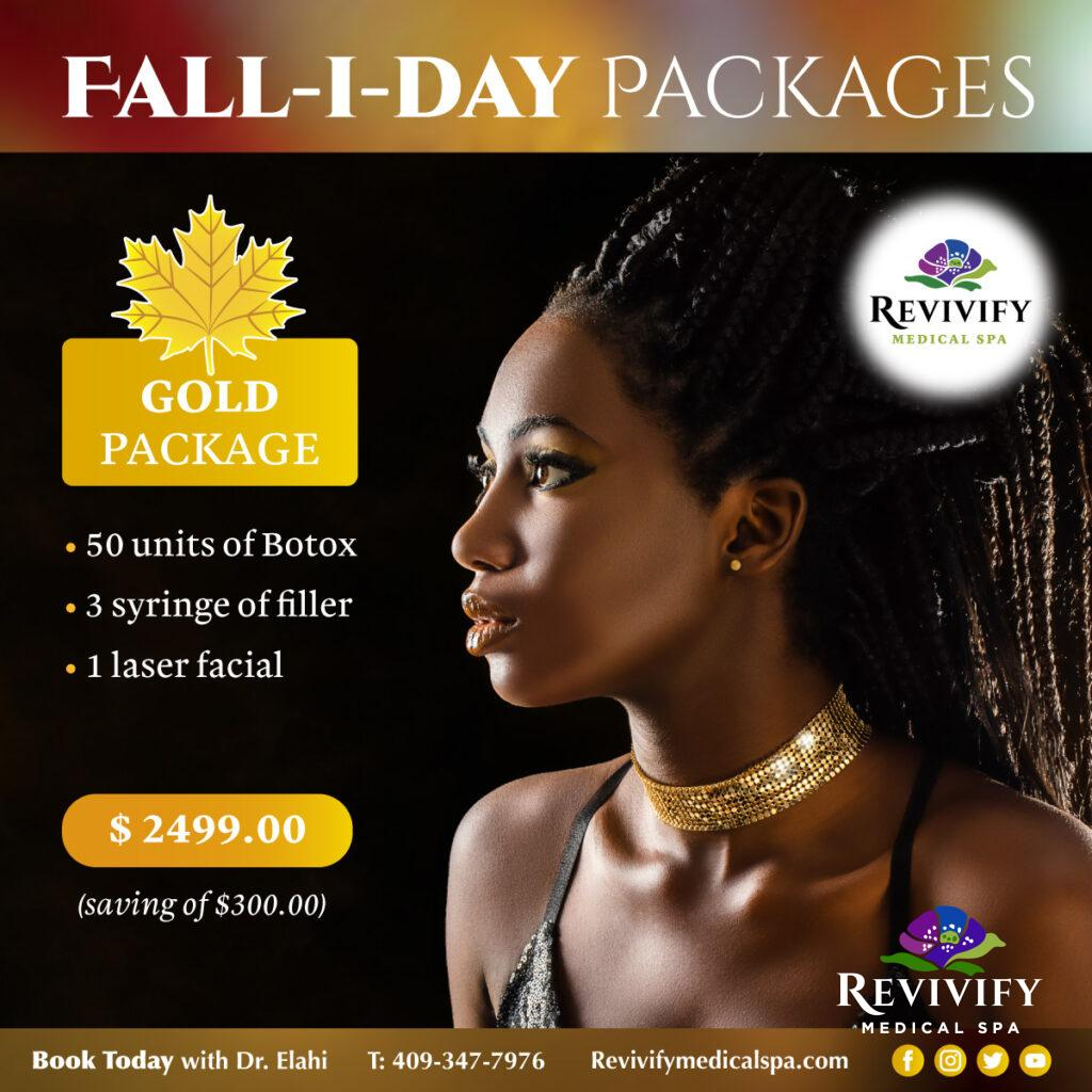 FALL-I-DAY Medical Spa November Specials Gold