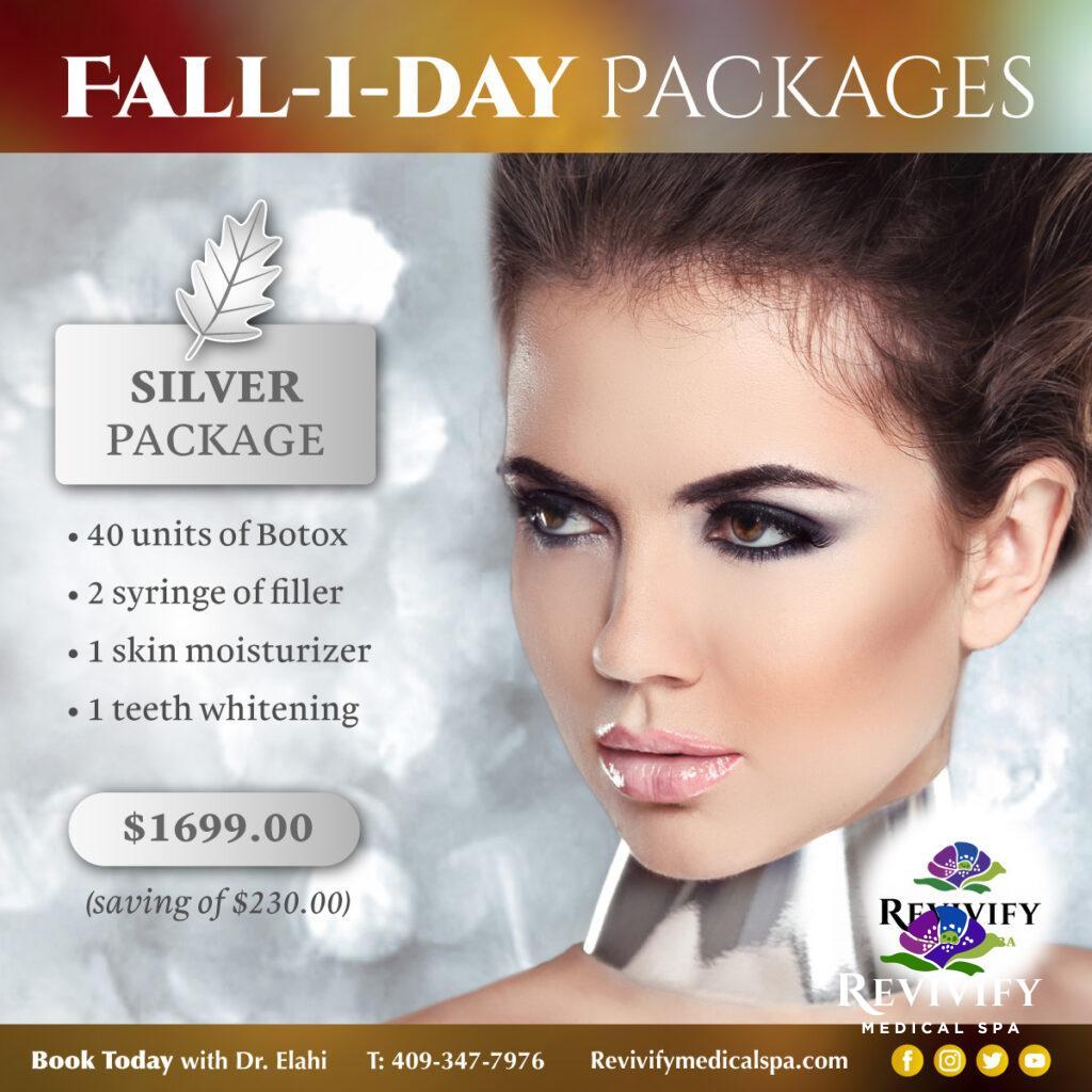 FALL-I-DAY Medical Spa November Specials Silver