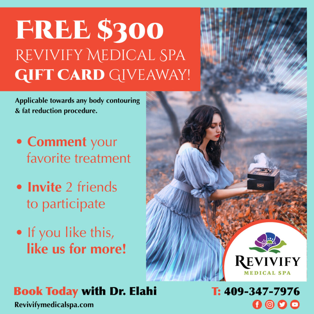 Free $300 Revivify Medical Spa Gift Card Giveaway Beaumont Texas