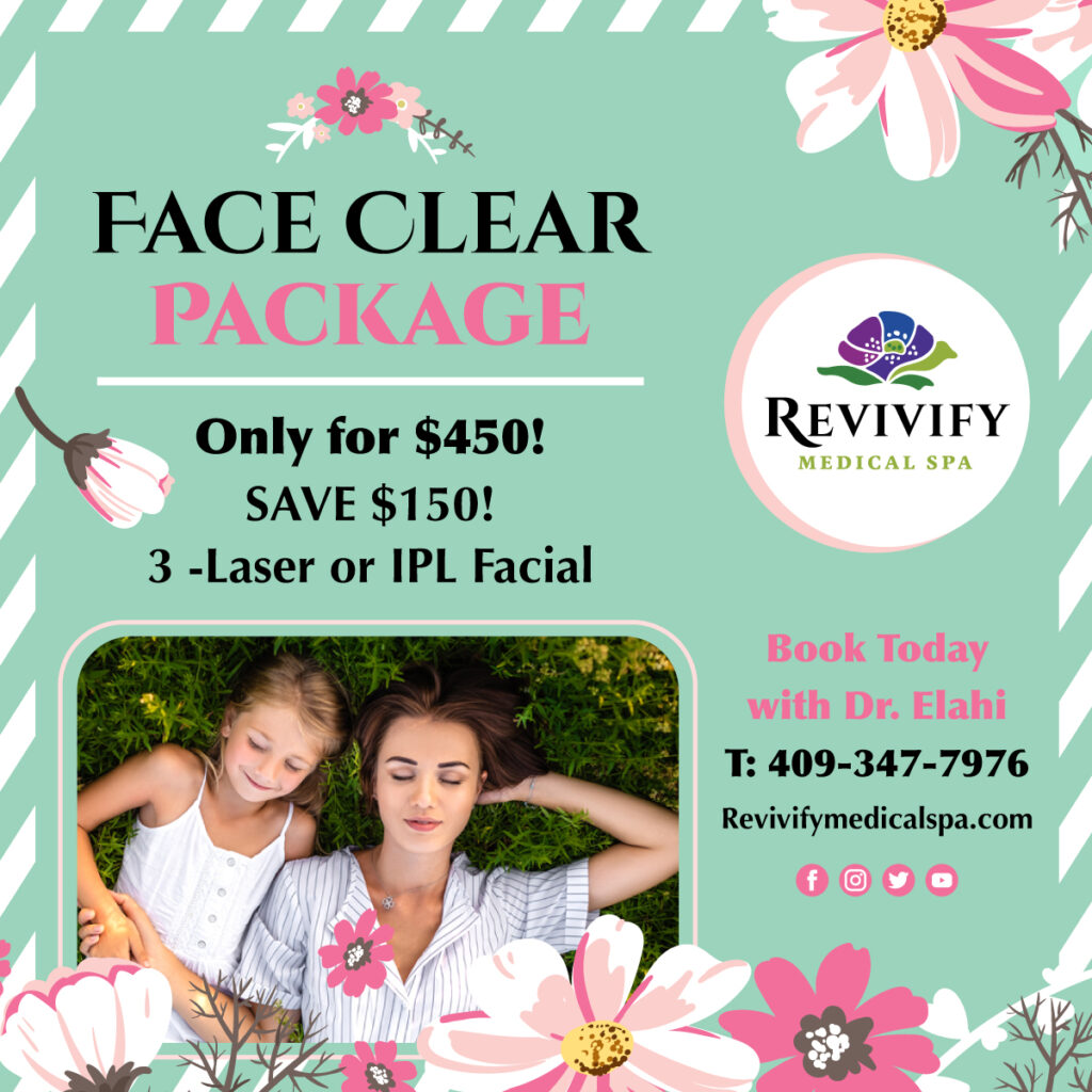 face clear package laser or IPL facial