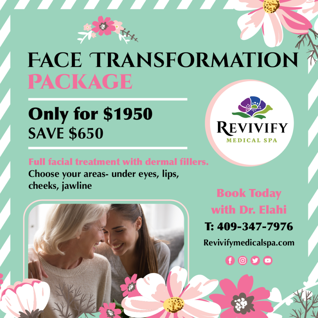 Face Transformation Package Only for $1950