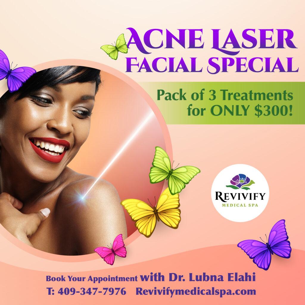 Facial Recovery Specials acne laser facial texas