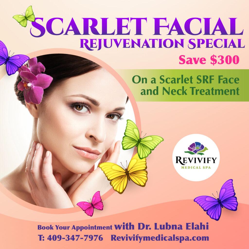 Facial Recovery Specials scarlet srf facial rejuvenation sale